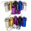 Aluminum Waterproof Pill Case Container Keychain