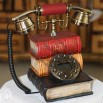 Book Shaped Antique Replica Aristocrat Brass Cradle Telephone