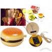 Hamburger Shaped Desk Home Corded Telephone Novelty Phone Gifts
