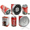 Red Classic Coca Cola Can Shaped Telephone Phone