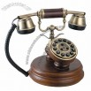 Antique Telephone Made Of Solid Wood