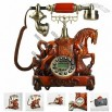 Significant Horse Sculpted Antique Telephone