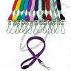 Flat neck lanyard with safety breakaway buckle and swivel hook