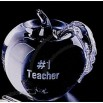 Distinctive Gift Gallery Glass Apple Paperweight (3 1/4