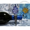 Blue Tear Drop Wine stopper