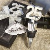25th Anniversary Wine Bottle Stopper Favors