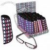 Arygle Asst Pattern Reading Glasses w/ Case in Display Stand
