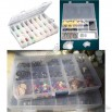 Clear Plastic Storage Box with Removable Partition for Jewelry Pill