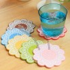 Lace Flower Design Soft Silicone Coaster
