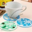 Rubber Clear Snowflake Coaster