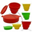 7oz Silicone Folding Cups with Lids