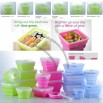 Folding Food Grade Silicon Sealed Containers