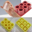 6-Cavity Square Ice Shot Glass Silicone Mould