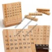 Desk Puzzle Wooden Monthly Calendar
