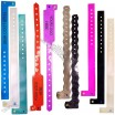 Personalized Vinyl ID Wristbands - L-shaped, wide face, wave profile and detachable tabs
