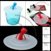 Magic White Silicone Little Devil Handle Tea Coffee Cup Lid Cover