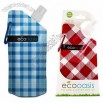SmartPlanet ECO Oasis 16 oz. Foldable Water Bottle Blue Plaid