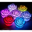 Cute Romantic Rose Shaped 7-color Changing LED Lamp Light