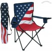 Us Flag Captain's Chair W/ Arm Rest & 2 Cup Holders
