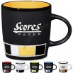 14 oz Color Block Ceramic Mug