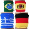 Country Flag Wristband For Soccer Sports Fans