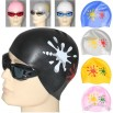 Silicone Swimming Cap With Printed