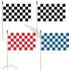 Checkered Flag Hand Wave Flags