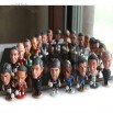 Soccer Player Figures Bobble Head Doll
