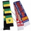 Knitted Acrylic Football Scarf with Embroidery Logo on Two Sides