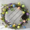 21-inch Easter Egg with Bird House Wreath
