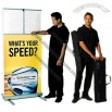 34 x 73in Expand MediaScreen 2 Outdoor Banner Stand Display