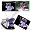 Butterfly crystal car vent perfume