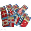 Car Air Freshener with Flag Design
