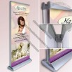 Double Sided Banner Stand, Retractable Roll Up Deluxe