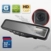 HD CAR DVR Rear View Mirror G SENSOR 32GB SD card accident camera video recorder