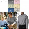 Men's Classic Wrinkle-Free Long-Sleeve Button Down Oxford Custom Shirt - Dark Colors