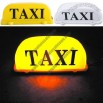 12V Roof Top Taxi Cab Sign Light with Magnetic Base