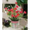 23cm Height Colorful Potted Artificial Flowers