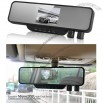 3.5 inch LCD Dual lens Auto Camera Recorder vehicle Rearview Mirror DVR Video