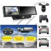 4.3inch rear view morrir with dual lens car dvr + rear view camera