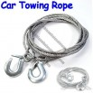 5 Tons Steel Heavy Duty Car Tow Rope Silver 3.4m
