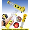 5 in 1 Car Alarm Emergency Hammer with Flashlight Safety Belt Cutter Auto Tool