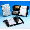 Aluminum Cover Organizer with Pen and Card Holder Memo Pad