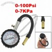 Auto Analogue Dial Tyre Pressure Gauge Measuring 0-100Psi 0-7KPa