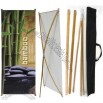 Bamboo Banner Display - 28 wide Zen Tradeshow Banner Stand