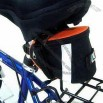 Bicycle Bag with Nylon Zipper and Webbing 10 x 14.5 x 7cm
