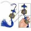 Blue Tassel 8 Copper Coins Pendant Chinese Knot Hanger for Car