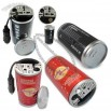 Can Shaped 150W Car Power Charger with USB Port, Suitable for Apple's iPhone and iPod