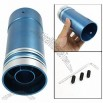 Car Blue Aluminum Exhaust Tailpipe Silencer Round Muffler Tip 58mm