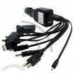 Car Charger with USB port and Various Connectors, Suitable for All Kinds of Mobile Phone